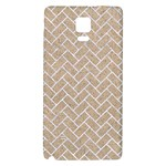 BRICK2 WHITE MARBLE & SAND Galaxy Note 4 Back Case Front