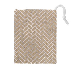 Brick2 White Marble & Sand Drawstring Pouches (extra Large)