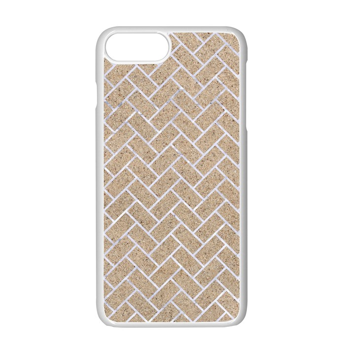 BRICK2 WHITE MARBLE & SAND Apple iPhone 7 Plus Seamless Case (White)