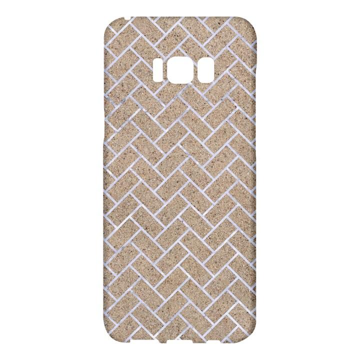 BRICK2 WHITE MARBLE & SAND Samsung Galaxy S8 Plus Hardshell Case