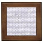 BRICK1 WHITE MARBLE & SAND (R) Framed Tiles Front