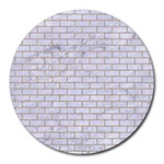 BRICK1 WHITE MARBLE & SAND (R) Round Mousepads Front
