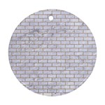 BRICK1 WHITE MARBLE & SAND (R) Ornament (Round) Front