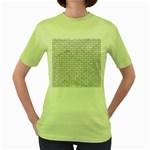 BRICK1 WHITE MARBLE & SAND (R) Women s Green T-Shirt Front
