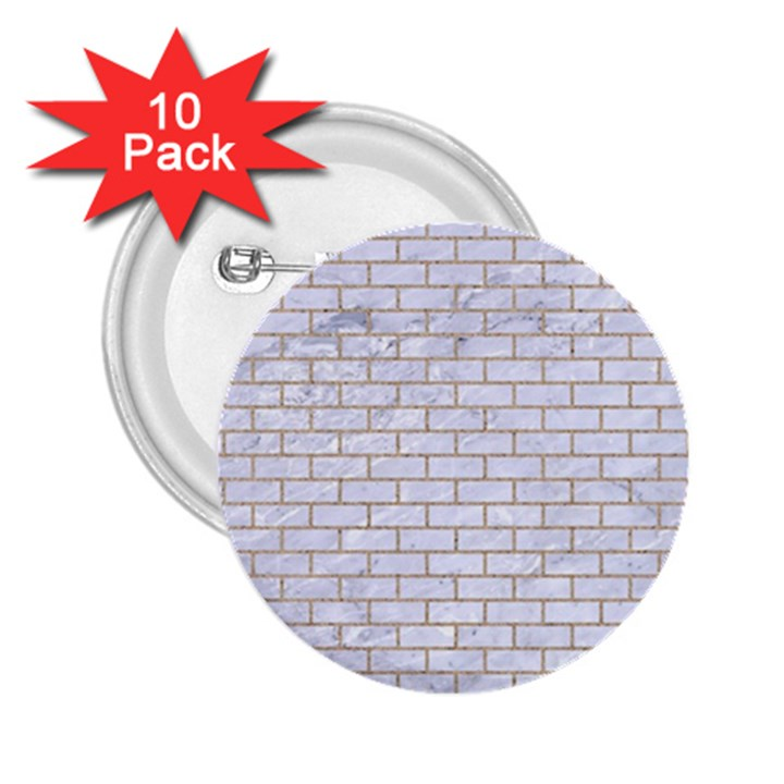 BRICK1 WHITE MARBLE & SAND (R) 2.25  Buttons (10 pack)