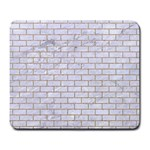BRICK1 WHITE MARBLE & SAND (R) Large Mousepads Front