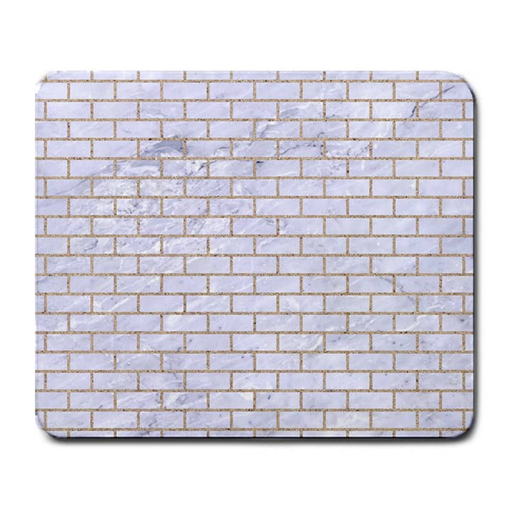 BRICK1 WHITE MARBLE & SAND (R) Large Mousepads