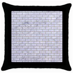 BRICK1 WHITE MARBLE & SAND (R) Throw Pillow Case (Black) Front