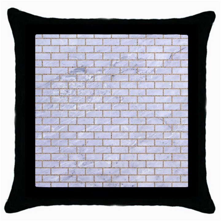 BRICK1 WHITE MARBLE & SAND (R) Throw Pillow Case (Black)