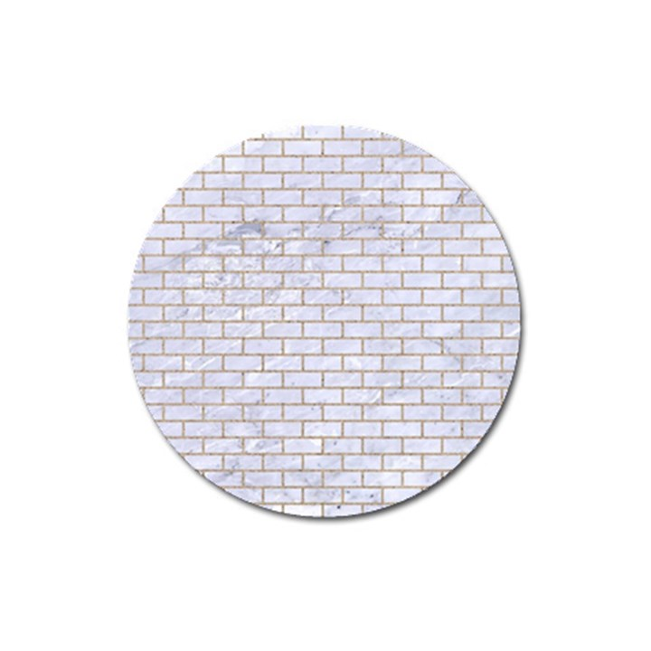 BRICK1 WHITE MARBLE & SAND (R) Magnet 3  (Round)