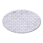 BRICK1 WHITE MARBLE & SAND (R) Oval Magnet Front