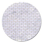BRICK1 WHITE MARBLE & SAND (R) Magnet 5  (Round) Front