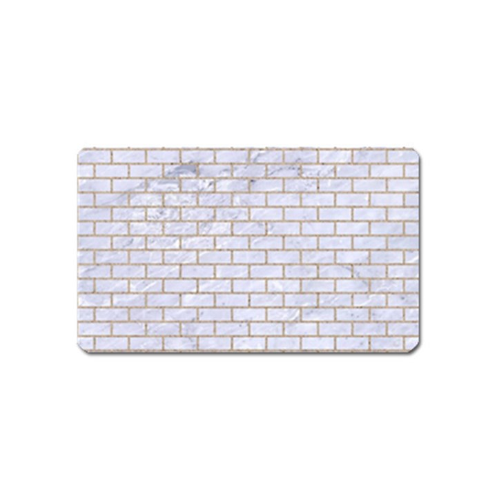BRICK1 WHITE MARBLE & SAND (R) Magnet (Name Card)