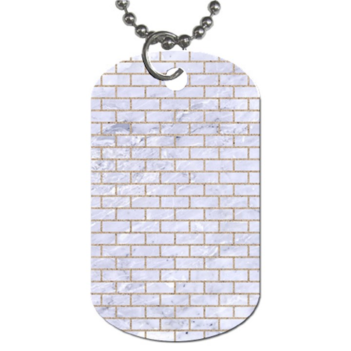 BRICK1 WHITE MARBLE & SAND (R) Dog Tag (Two Sides)