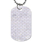 BRICK1 WHITE MARBLE & SAND (R) Dog Tag (Two Sides) Back