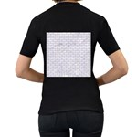 BRICK1 WHITE MARBLE & SAND (R) Women s T-Shirt (Black) (Two Sided) Back