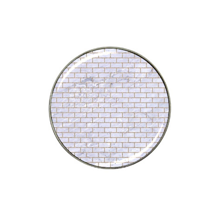 BRICK1 WHITE MARBLE & SAND (R) Hat Clip Ball Marker (4 pack)