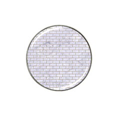 Brick1 White Marble & Sand (r) Hat Clip Ball Marker (10 Pack)
