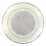 BRICK1 WHITE MARBLE & SAND (R) Porcelain Plates Front