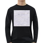 BRICK1 WHITE MARBLE & SAND (R) Long Sleeve Dark T-Shirts Front