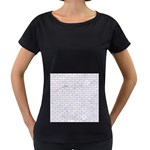BRICK1 WHITE MARBLE & SAND (R) Women s Loose-Fit T-Shirt (Black) Front