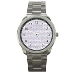 BRICK1 WHITE MARBLE & SAND (R) Sport Metal Watch Front