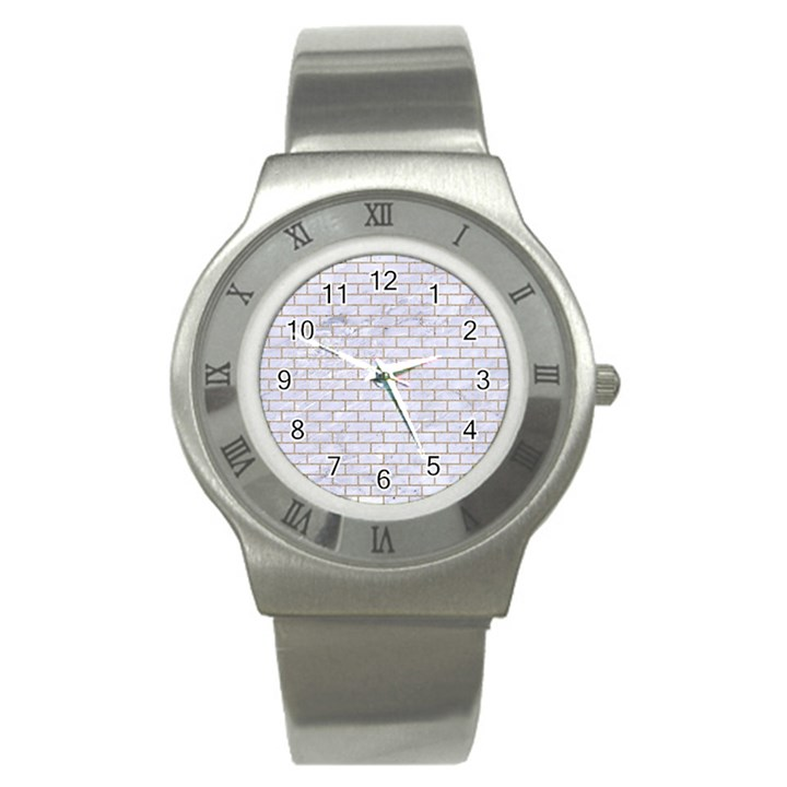 BRICK1 WHITE MARBLE & SAND (R) Stainless Steel Watch