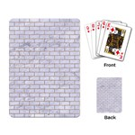 BRICK1 WHITE MARBLE & SAND (R) Playing Card Back