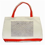 BRICK1 WHITE MARBLE & SAND (R) Classic Tote Bag (Red) Front