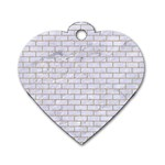 BRICK1 WHITE MARBLE & SAND (R) Dog Tag Heart (Two Sides) Front