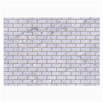 BRICK1 WHITE MARBLE & SAND (R) Large Glasses Cloth Front