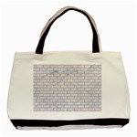 BRICK1 WHITE MARBLE & SAND (R) Basic Tote Bag (Two Sides) Front