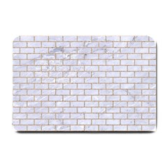 Brick1 White Marble & Sand (r) Small Doormat