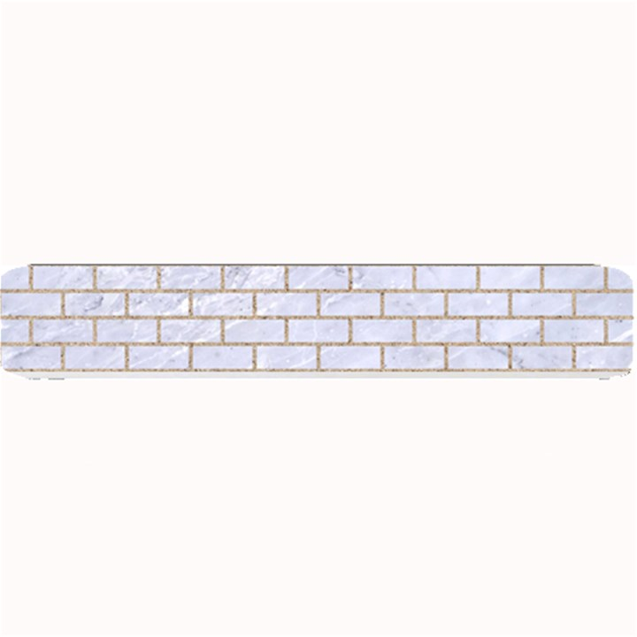 BRICK1 WHITE MARBLE & SAND (R) Small Bar Mats