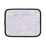 BRICK1 WHITE MARBLE & SAND (R) Netbook Case (Small)  Front