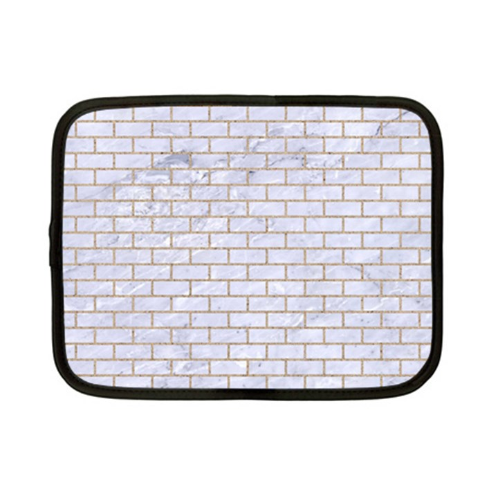 BRICK1 WHITE MARBLE & SAND (R) Netbook Case (Small)