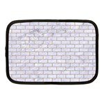 BRICK1 WHITE MARBLE & SAND (R) Netbook Case (Medium)  Front