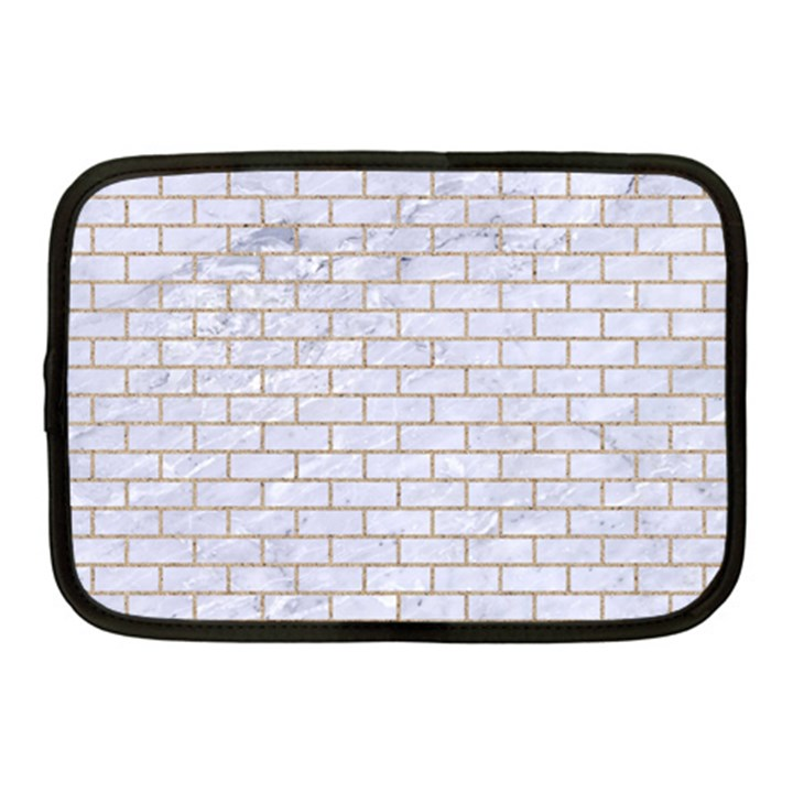 BRICK1 WHITE MARBLE & SAND (R) Netbook Case (Medium)