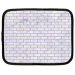 BRICK1 WHITE MARBLE & SAND (R) Netbook Case (Large) Front