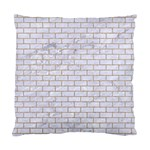 BRICK1 WHITE MARBLE & SAND (R) Standard Cushion Case (Two Sides) Back