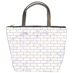 BRICK1 WHITE MARBLE & SAND (R) Bucket Bags Front
