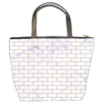 BRICK1 WHITE MARBLE & SAND (R) Bucket Bags Back