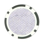 BRICK1 WHITE MARBLE & SAND (R) Poker Chip Card Guard (10 pack) Front