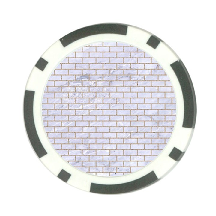 BRICK1 WHITE MARBLE & SAND (R) Poker Chip Card Guard (10 pack)