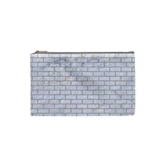 Brick1 White Marble & Sand (r) Cosmetic Bag (small)