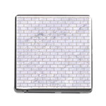 BRICK1 WHITE MARBLE & SAND (R) Memory Card Reader (Square) Front