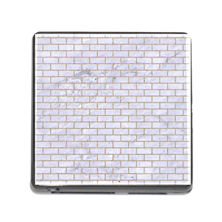 BRICK1 WHITE MARBLE & SAND (R) Memory Card Reader (Square)