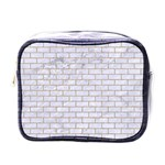 BRICK1 WHITE MARBLE & SAND (R) Mini Toiletries Bags Front