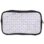 BRICK1 WHITE MARBLE & SAND (R) Toiletries Bags 2-Side Front