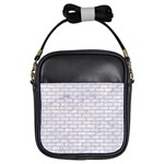BRICK1 WHITE MARBLE & SAND (R) Girls Sling Bags Front